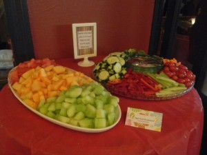fruit and crudite